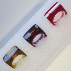 Picture of Laser Cut Jewelry: Layered Acrylic Rings