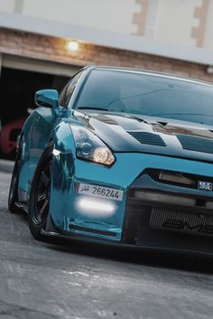 Nissan GTR. Lovely Color. The hood goes perfect with the rest of the body