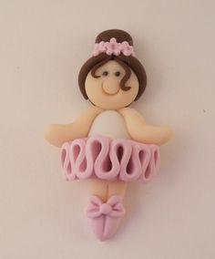Polymer Clay Bead or Bow Center  Ballerina by aprincessandtwopeas, $3.25