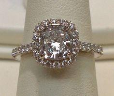 2 ct. halo cushion center diamond pave by diamondsfromnewyork