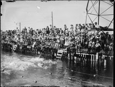 233099PD: School girls' swimming competition in the Swan River, 1930 http://purl.slwa.wa.gov.au/slwa_b2940578_002