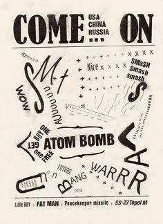 Een Dada Poster; met het thema bom. Ook de manier van weergeven van de typografie spreekt me hierin erg aan.