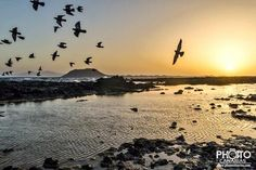 The sun at Corralejo, Fuerteventura