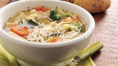 Итальянский куриный суп с лапшой