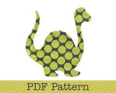 Dinosaur Applique Pattern, PDF Template, Applique Designs, Baby Boy