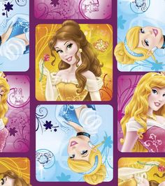 Disney Royal Debut Patches Fleece Fabric