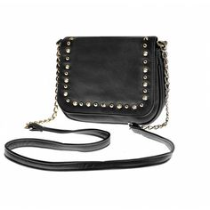 STUDDED CROSS BODY BAG Ally Fashion (27 CAD) ❤ liked on Polyvore featuring bags, handbags, shoulder bags, studded purse, studded crossbody, crossbody shoulder bags, studded crossbody purse and studded shoulder bag