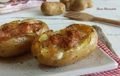 Patate ripiene con pancetta e mozzarella