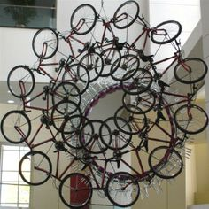 washington convent, donald lipski, convent center, bicycl mobil, bicycl wheel