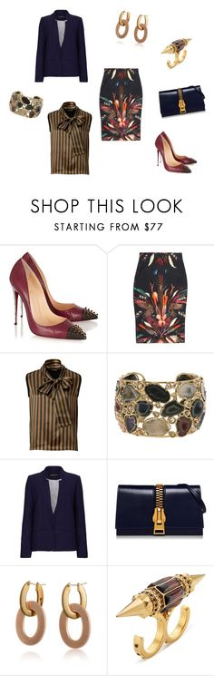 """Untitled #239"" by joshua-d-tyson ❤ liked on Polyvore featuring Christian Louboutin, Nicole Miller, Fendi, Kimberly McDonald, Sugarhill Boutique, Roberto Coin and Alexander McQueen"