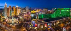 Las Vegas Strip high resolution panorama by Tim Shields