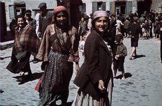 Romani women in the Jewish quarter of Lublin.