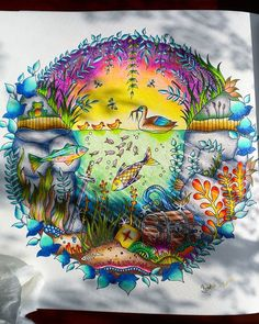 #johannabasford #johannabasfordsecretgarden #secretgardeninspire #secretgarden #titkoskertszinezokonyv #enchantedforest #johannabasfordenchantedforest #bűvöserdő #adultcoloring #adultcoloringbook #felnőttszínező #johanna_basford #derwent