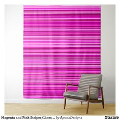 Magenta and Pink Stripes/Lines Pattern Tapestry - pink gifts style ideas cyo unique Tapestry Pink, Tapestry Bedroom, Wall Tapestry, Line Patterns, Pink Gifts, Pink Stripes, New Room, Home Gifts, Magenta