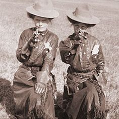 .Cowgirls with pistols. ... FW