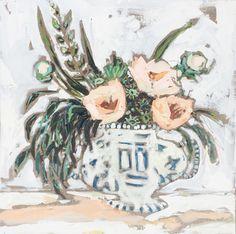 """Blushing Goddess"" by Amanda Noman. Floral art."