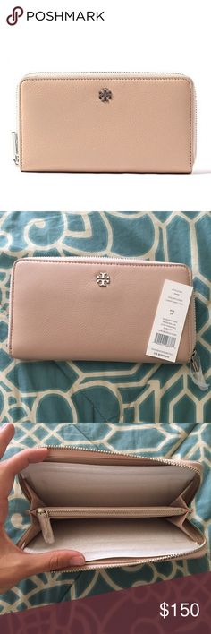 New Tory Burch Mercer Zip Continental Wallet In color light oak. Brand New with tags. Super cute!! Tory Burch Bags Wallets