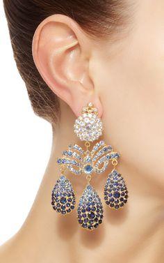 Sapphire Chandelier Earrings by Sylvie Corbelin for Preorder on Moda Operandi