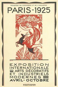 Poster for the Exposition International des Arts Décoratifs et Industriels Modernes, Paris 1925