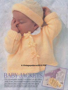 Baby Knitting Patterns Dress Jimmy Baby Sweater Set Free Knitting Pattern at Jimmy Beans Wool Baby Sweater Patterns, Baby Cardigan Knitting Pattern, Knit Baby Sweaters, Knitted Baby Clothes, Baby Patterns, Knit Patterns, Baby Knits, Knitted Baby Cardigan, Jacket Pattern