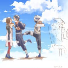 Oh Kakashi you love Rin and Obito