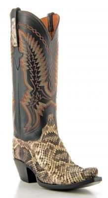 Womens Lucchese Classics Eastern Rattlesnake Boots Black #Gc9512 via @Allen & Cheryl Smith Boots