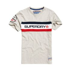 Chemise homme trophée poitrine Band T-shirt-SUPERDRY Stadium Gris Grindle