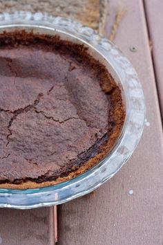 Milk Chocolate Brownie Pie with PB Graham Cracker Crust