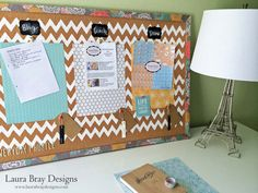 Home Office Organization Corkboard! Such a cute way to stay organized!