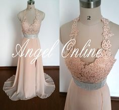 Hey, I found this really awesome Etsy listing at https://www.etsy.com/uk/listing/189589936/skin-pink-lace-chiffon-long-evening