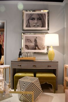 The Sasha Desk from Worlds Away features a black and white bone striped pattern. The brass hardware on the Sasha completes the furniture for a striking look. The desk features three drawers finished with brass hardware. Home Decor Furniture, Cool Furniture, Furniture Design, Cheap Rustic Decor, Cheap Home Decor, La Croix Valmer, Home Interior, Interior Design, Bedroom Decor