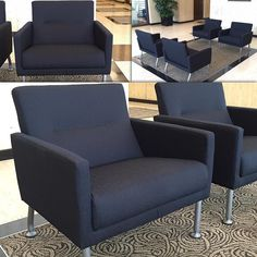 Commercial restoration and upholstery job delivered by Denicola's.