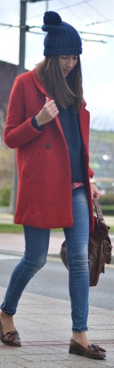 #Red #Coat by Silvia's closet = Click to see what she wears