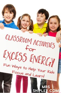 Are you finding that your students have more energy than focus at various times of the year? The amount of excess energy can cut into valuable instructional time. What's a teacher to do? Well, a teacher could set up some fun classroom activities that will help burn excess energy while students still get their learn on.