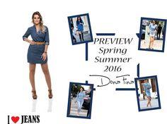 Prática, moderna, romântica, despojada... Com o jeans você pode ser o que quiser! Aposte nessa tendência com a Dona Fina. Preview Spring / Summer 2016 Dona Fina #donafina #previewsummer