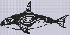 Killer Whale 2 Cross Stitch Pattern
