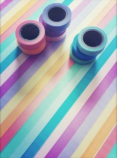 decorating a table with tape