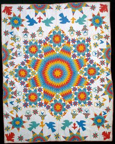 Lone Star medallion quilt, late 19th Century, Ellen Fullard Wright. Collection of the Shelburne Museum