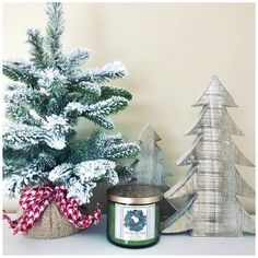 Its the most wonderful time of the year! Mini Christmas Tree, Christmas Candle, Christmas Is Coming, Rustic Christmas, Christmas Photos, Christmas Home, Christmas Crafts, Christmas Decorations, Time Of The Year