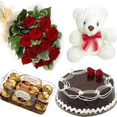 Teddy combo hamper is given surprisingly to your beloved ones who's birthday is beneath the head so dont get worried to how to wish them it is possible through our shop2rajahmundry.com by getting on to Birthday Hamper Rajahmundry. Combo pack consists of Chocolates,Teddy bear which is so pretty, Beautiful red roses and spicy cake to your heartful friend to wish them and make their auspicious day with Combo Pack Rajahmundry through shop2Rajahmundry.com