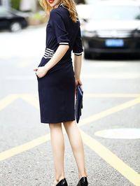 Varsity Cotton Midi Dress