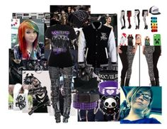 """""""Went to hot topic and this is what i got"""" by mollypopiscool ❤ liked on Polyvore"""