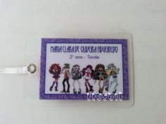 Tag plastificada Monster High