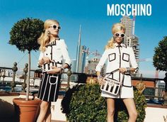 Moschino Spring 2013 Hanne Gaby Odiele and Juliana Schurig photographed by Juergen Teller. Photos courtesy of Moschino Juergen Teller, Moschino, Miu Miu, Alexander Mcqueen, Dior, Vogue, Instyle Magazine, Chanel, Fashion Articles