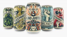 When Unlawful Assembly Brewing's packaging design was created the designers behind it looked back in time and created this Propaganda Beer Packaging.