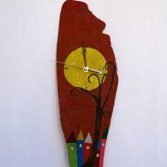 handmade wall clock - TRee Handmade Wall Clocks, Handicraft, Objects, Home Decor, Craft, Decoration Home, Room Decor, Craftsman Wall Clocks, Gift Crafts