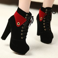 2013 women's shoes thick heel high-heeled platform boots female boots martin boots US $47.48