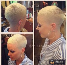 Foxy Crew Cut - Buzz Cut Girls Who Inspire You to Cut Locks Dramatically - The Trending Hairstyle Short Sassy Hair, Very Short Hair, Short Hair Cuts For Women, Short Hairstyles For Women, Cool Hairstyles, Short Hair Styles, Medium Hairstyles, Pixie Hairstyles, Short Cuts