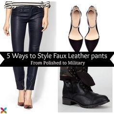 Faux Leather Pants Style Tips - I'm obsessed with leather right now! @Andrea Fellman