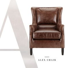 The Alex Chair in Old West Vintage.